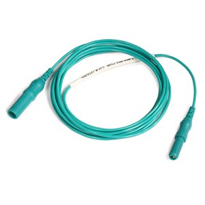 """KING Interconnection Cable 1.5mm Female TP Conn. to Male TP Conn. Length 36"""" (91 cm) Green, Qty 1"""