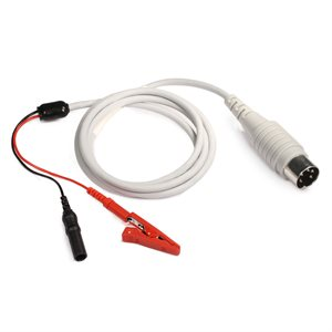 """KING Shielded Cable 5 PIN DIN Connect. to 1 Red Alligator Clip 1 Black Male TP Connect. Length 40"""""""