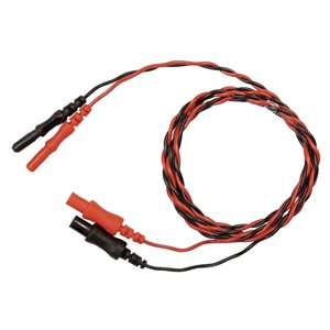 """Natus Extension Cable 1.0m (40"""") Twisted Red and Black 1.5 Touch Proof Connectors"""
